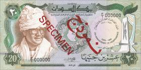 Sudan P.22s 20 Pounds 1981 Specimen (1)