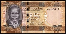 Süd Sudan / South Sudan P.08 25 Pounds REPLACEMENT ZZ 2011 (1)