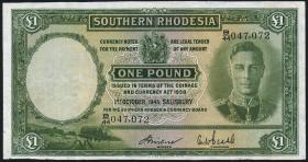 Süd Rhodesien / Southern Rhodesia P.10c 1 Pound 1945 (4)