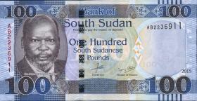 Süd Sudan / South Sudan P.15 100 Südsudanesische Pfund 2015 (1)