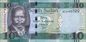 Süd Sudan / South Sudan P.12a 10 South Sudanese Pounds 2015 (1)