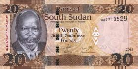 Süd Sudan / South Sudan P.13 20 South Sudanese Pounds 2015 (1)