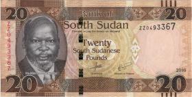 Süd Sudan / South Sudan P.13r 20 Südsudanesische Pfund 2016 ZZ (1)