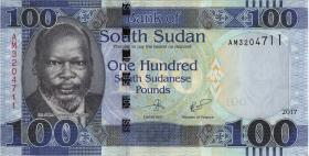 Süd Sudan / South Sudan P.15b 100 Südsudanesische Pfund 2017 (1)