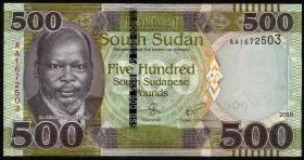 Süd Sudan / South Sudan P.neu 500 Südsudanesische Pfund 2018 (1)