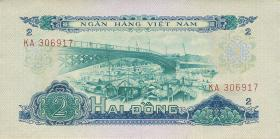Südvietnam / Viet Nam South P.041a 2 Dong 1966 (1975) (1)
