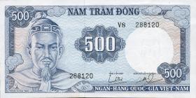 Südvietnam / Viet Nam South P.023a 500 Dong (1966) (2)
