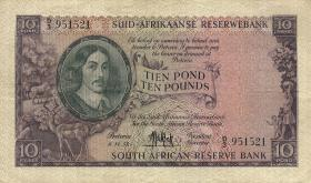 Südafrika / South Africa P.099 10 Pounds 6.11.1957 (Afrikaans) (3)