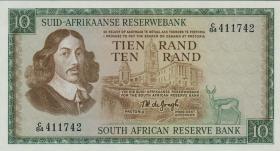 Südafrika / South Africa P.114b 10 Rand (1966-74) (Afrikaans) (1)