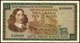 Südafrika / South Africa P.114b 10 Rand (1966-76) (3)