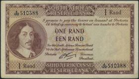 Südafrika / South Africa P.102b 1 Rand (1962-65) (Englisch) (1-)
