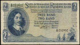 Südafrika / South Africa P.105b 2 Rand (1961) (Afrikaans) (3+)