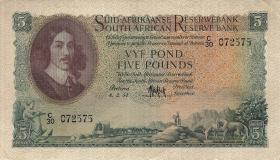 Südafrika / South Africa P.097c 5 Pounds 1954-58 (Afrikaans) (3+)