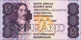Südafrika / South Africa P.119d 5 Rand (1989-90) (1)