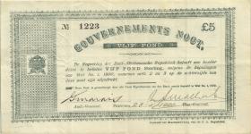 Südafrika / South Africa P.055 5 Pounds 1900 (3+)