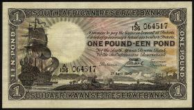 Südafrika / South Africa P.084e 1 Pound 27.4.1943 (2+)