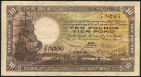 Südafrika / South Africa P.087 10 Pounds 19.4.1943 (3)
