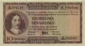 Südafrika / South Africa P.090c 10 Shillings 20.11.1957 (Englisch) (1)