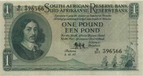Südafrika / South Africa P.092d 1 Pound 3.12.1957 (Englisch) (1/1-)