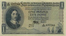 Südafrika / South Africa P.092d 1 Pound 28.4.1959 (Englisch) (1/1-)