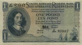 Südafrika / South Africa P.092d 1 Pound 20.3.1959 (Englisch) (1/1-)