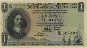 Südafrika / South Africa P.093d 1 Pound 1950 (Afrikaans) (2)