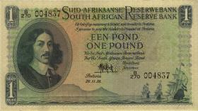 Südafrika / South Africa P.093e 1 Pound 26.11.1956 (Afrikaans) (2+)