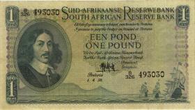 Südafrika / South Africa P.093e 1 Pound 1958 (Afrikaans) (3)
