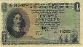 Südafrika / South Africa P.093e 1 Pound 1953 (Afrikaans) (3+)