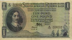 Südafrika / South Africa P.093e 1 Pound 1951 (Afrikaans) (3)