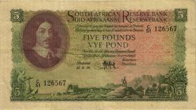 Südafrika / South Africa P.096c 5 Pounds 1954-59 (Englisch) (3)