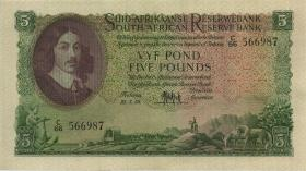 Südafrika / South Africa P.097c 5 Pounds 22.5.1958 (Afrikaans) (1/1-)