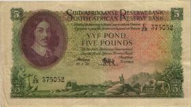 Südafrika / South Africa P.097c 5 Pounds 1954-58 (Afrikaans) (3)