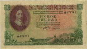 Südafrika / South Africa P.106b 10 Rand (1962-65) (Englisch) (3)