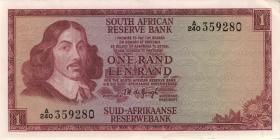 Südafrika / South Africa P.109a 1 Rand (1966) (2)