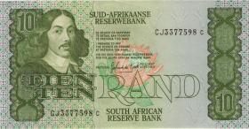 Südafrika / South Africa P.120d 10 Rand (1985-90) (2)