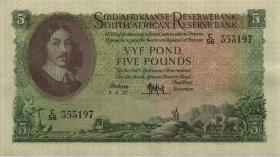 Südafrika / South Africa P.097c 5 Pounds 7.3.1957 (Afrikaans) (1/1-)
