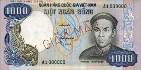 Südvietnam / Viet Nam South P.034A 1000 Dong (1975) Specimen (1)