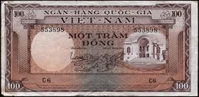 Südvietnam / Viet Nam South P.018 100 Dong (1966) (3-)