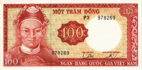 Südvietnam / Viet Nam South P.019b 100 Dong (1966) Wasserzeichen (1)