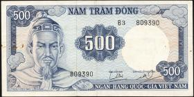 Südvietnam / Viet Nam South P.023a 500 Dong (1966) (3)