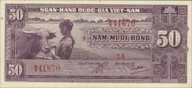 Südvietnam / Viet Nam South P.007a 50 Dong (1956) (1)