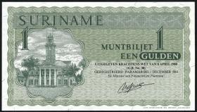 Surinam / Suriname P.116h 1 Gulden 1984 (1)