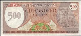 Surinam / Suriname P.129 500 Gulden 1982 (1)
