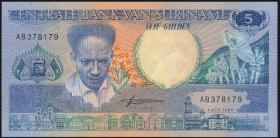 Surinam / Suriname P.130a 5 Gulden 1986 (1/1-)