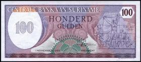 Surinam / Suriname P.128b 100 Gulden 1985 (1)