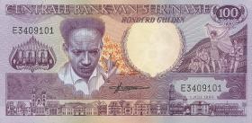 Surinam / Suriname P.133a 100 Gulden 1986 (1)
