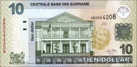 Surinam / Suriname P.158 10 Dollars 2004 (1)