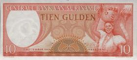 Surinam / Suriname P.121b 10 Gulden 1963 (1)