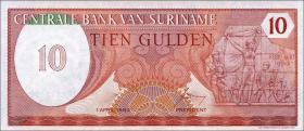 Surinam / Suriname P.126 10 Gulden 1982 (1)
